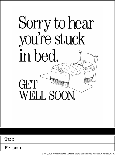 Soft image pertaining to get well soon card printable